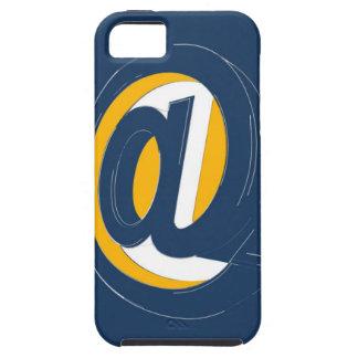 Azul y amarillo iPhone 5 fundas