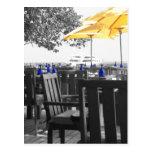 Azul y amarillo tarjetas postales