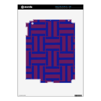 Azul y armadura de Brown T iPad 2 Calcomanías