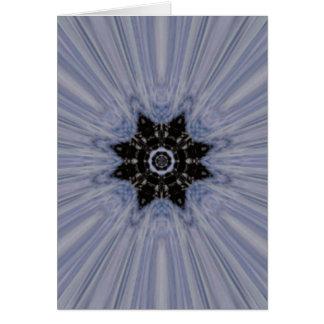 Azul y arte de la estrella del copo de nieve de Br Tarjeta De Felicitación