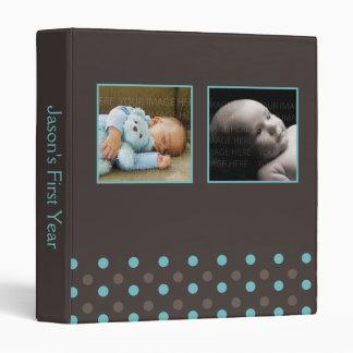 """Azul y bebé de la foto de los lunares de Brown Carpeta 1"""""""