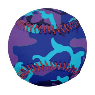 Azul y béisbol púrpura del modelo del camuflaje