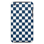 Azul y blanco a cuadros iPod touch Case-Mate protector