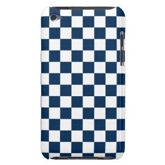 Azul y blanco a cuadros funda Case-Mate para iPod