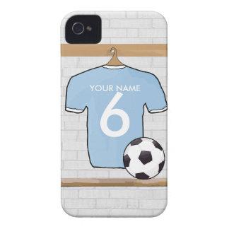 Azul y blanco de cielo adaptable de la camisa del  iPhone 4 Case-Mate carcasas