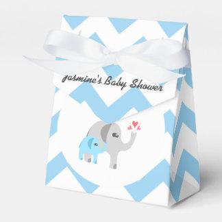 Azul y blanco de la fiesta de bienvenida al bebé cajas para regalos