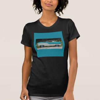 Azul y blanco de Nash el Hudson Metropolitian Tshirts