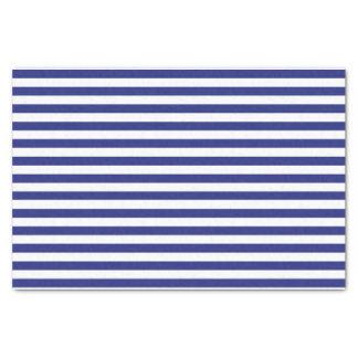Azul y blanco raya el papel seda papel de seda pequeño