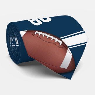 Azul y blanco raya fútbol del jersey corbatas personalizadas