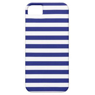 Azul y blanco raya la caja del iPhone Funda Para iPhone 5 Barely There