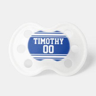 Azul y blanco se divierte el jersey para el bebé chupetes para bebes