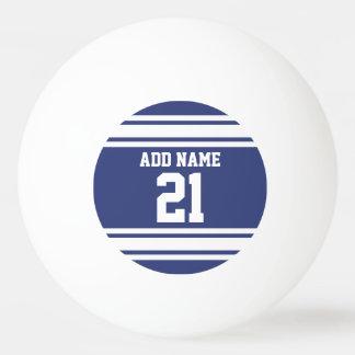Azul y blanco se divierte número conocido de pelota de tenis de mesa