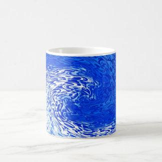 Azul y blanco taza