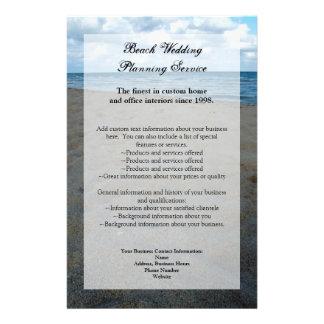Azul y boda de playa del de las arenas de Brown Tarjetón