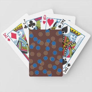 Azul y bolas de Brown Barajas De Cartas