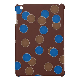 Azul y bolas de Brown iPad Mini Carcasas