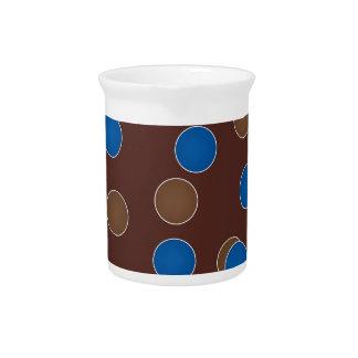 Azul y bolas de Brown Jarras Para Bebida