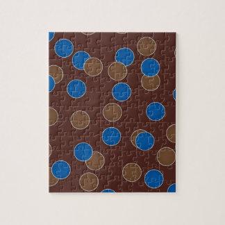 Azul y bolas de Brown Puzzle Con Fotos