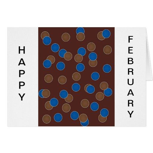 Azul y bolas de Brown Tarjeta