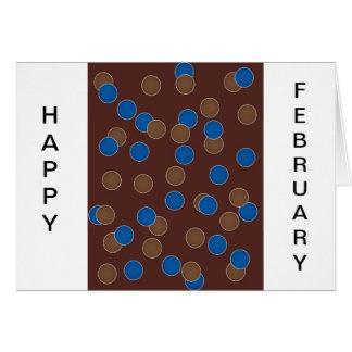 Azul y bolas de Brown Tarjeta De Felicitación