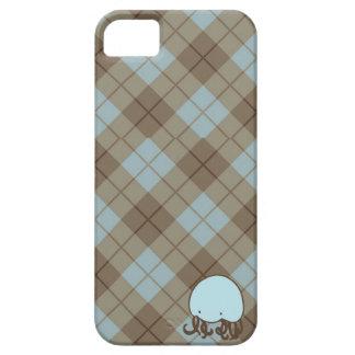 Azul y caja de la casamata de las medusas de Brown iPhone 5 Fundas