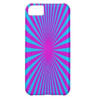 Azul y caja hipnotizada púrpura del teléfono