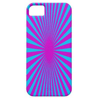 Azul y caja hipnotizada púrpura del teléfono funda para iPhone 5 barely there
