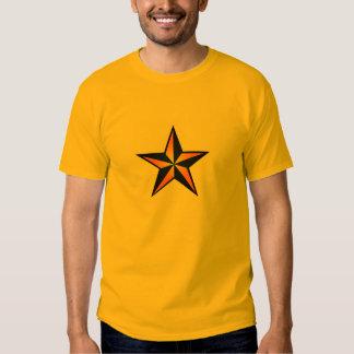 Azul y camiseta náutica de la estrella de Orane Polera