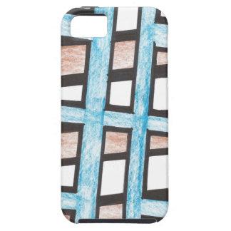 Azul y caso del iPhone 5 de los bloques de Brown iPhone 5 Carcasa