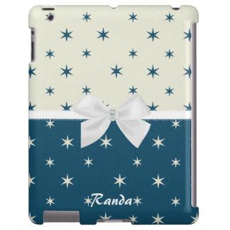 Azul y caso modelado blanco del iPad Funda Para iPad