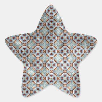 Azul y dialecto de Pennsylvania de Brown Calcomanías Forma De Estrella Personalizadas