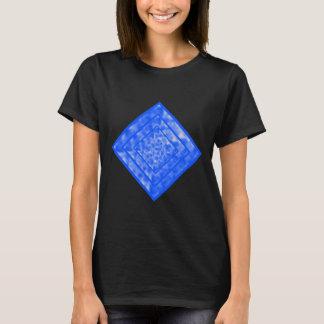 Azul y diamante abigarrado blanco playera