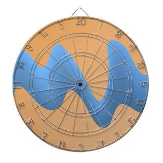 Azul y diseño anaranjado de la imagen de la onda tablero dardos