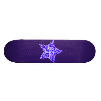Azul y estrella púrpura de estrellas monopatin