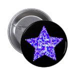Azul y estrella púrpura de estrellas pin