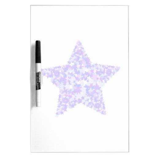 Azul y estrella púrpura de estrellas pizarra