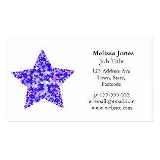 Azul y estrella púrpura de estrellas plantillas de tarjetas de visita