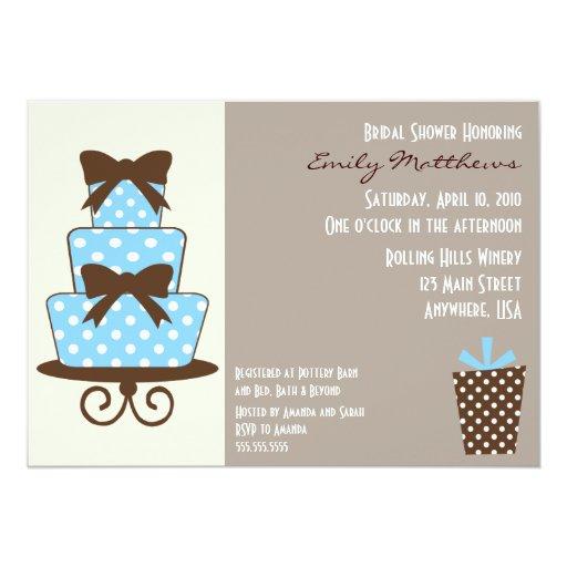 Azul y invitación modernos de Brown
