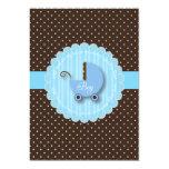 Azul y invitaciones de moda de la fiesta de invitación 12,7 x 17,8 cm