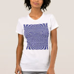 Azul y modelo a cuadros torcido blanco camiseta
