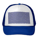 Azul y modelo a cuadros torcido blanco gorros bordados