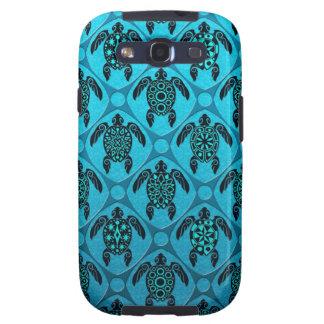 Azul y modelo de la tortuga del Mar Negro Samsung Galaxy S3 Cárcasa