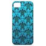 Azul y modelo de la tortuga del Mar Negro iPhone 5 Case-Mate Cárcasa