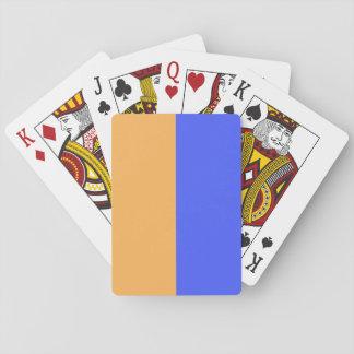 Azul y naranja barajas de cartas