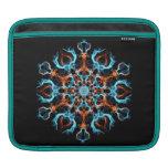 Azul y naranja geométricos funda para iPads