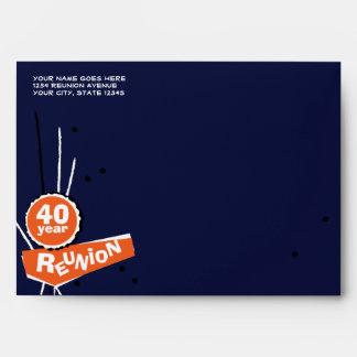 Azul y naranja sobre de la reunión de antiguos alu
