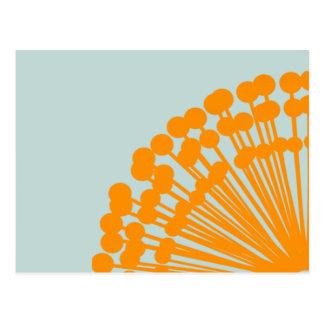 Azul y naranja tarjetas postales