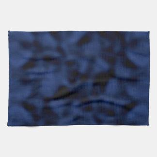 Azul y negro abigarrados toalla de mano