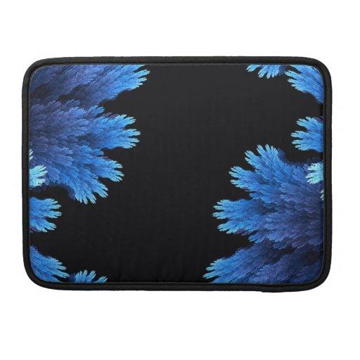 azul y negro elegantes funda para macbooks