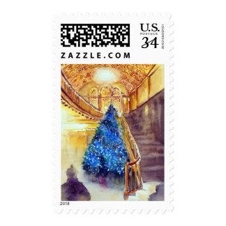 Azul y oro 2 - Michigan Thater en Ana Arbor2 Sellos Postales